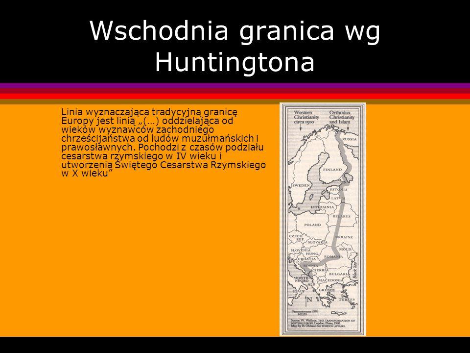 Wschodnia granica wg Huntingtona