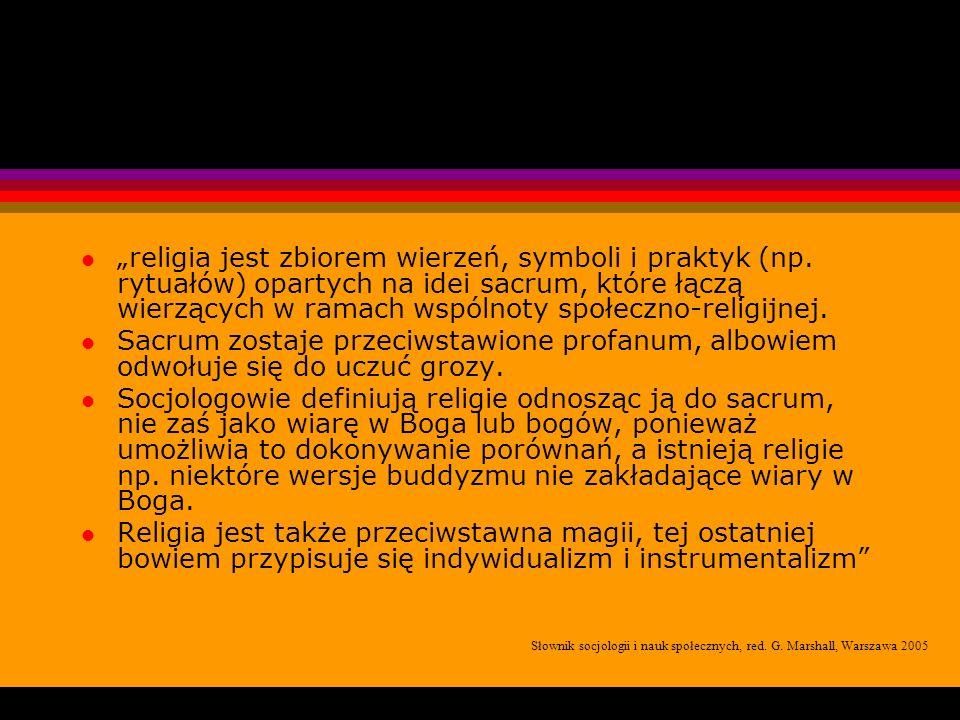 """""""religia jest zbiorem wierzeń, symboli i praktyk (np"""