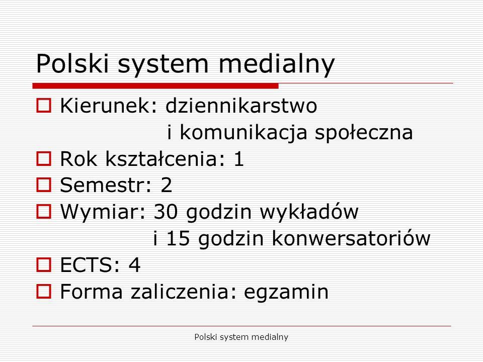 Polski system medialny