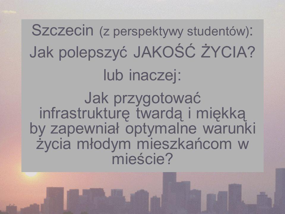 Szczecin (z perspektywy studentów): Jak polepszyć JAKOŚĆ ŻYCIA