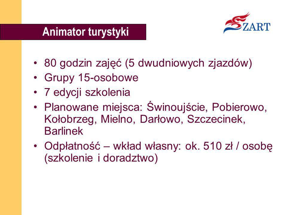 Animator turystyki 80 godzin zajęć (5 dwudniowych zjazdów)