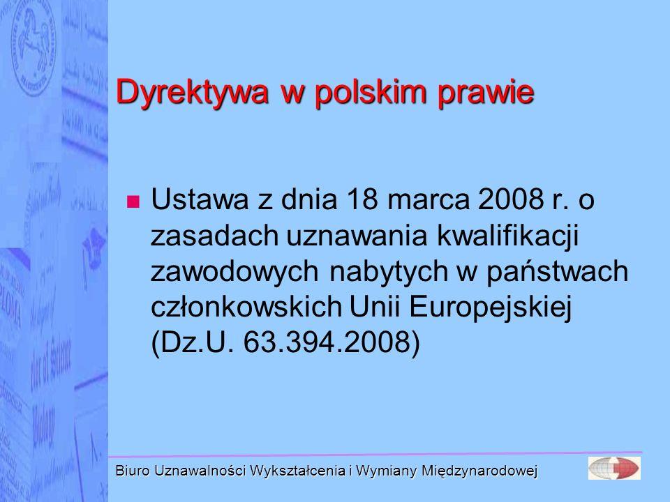 Dyrektywa w polskim prawie