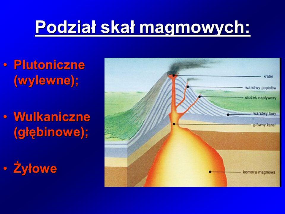 Podział skał magmowych: