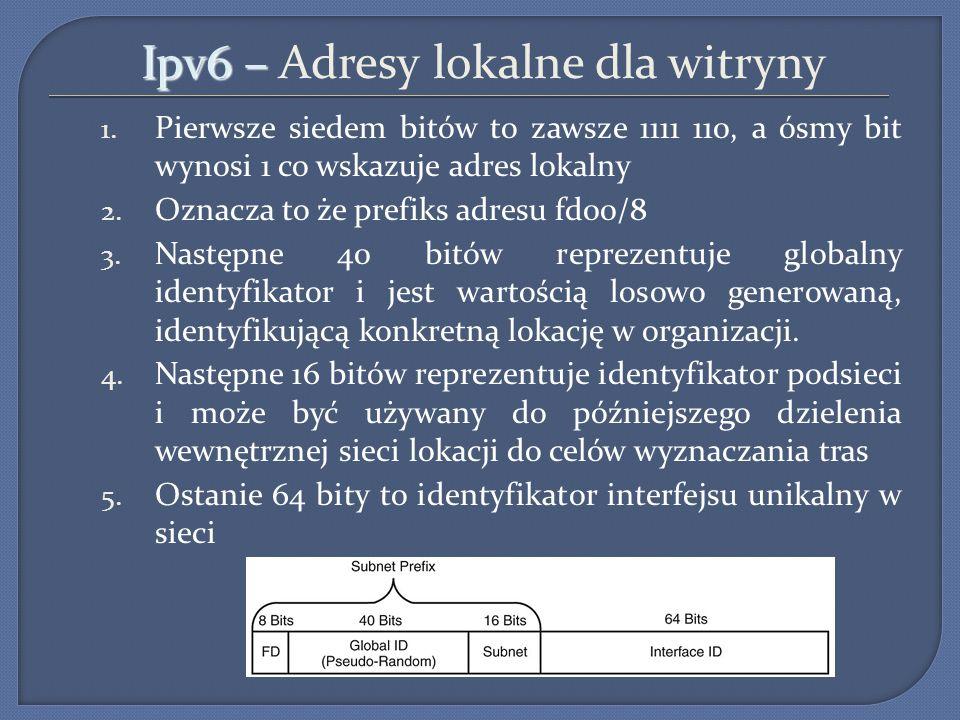 Ipv6 – Adresy lokalne dla witryny