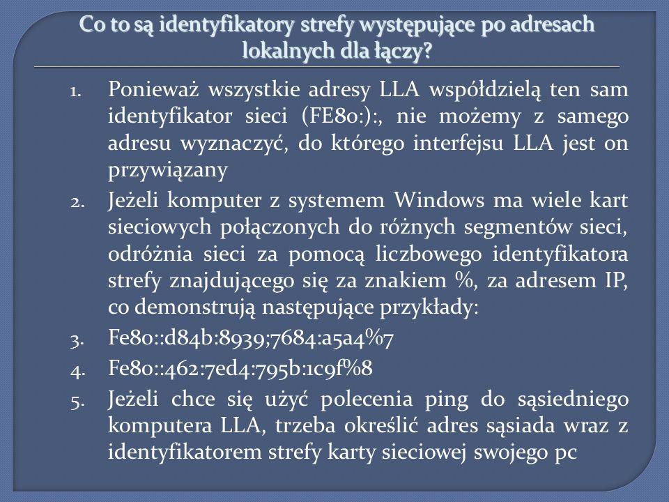 Co to są identyfikatory strefy występujące po adresach lokalnych dla łączy