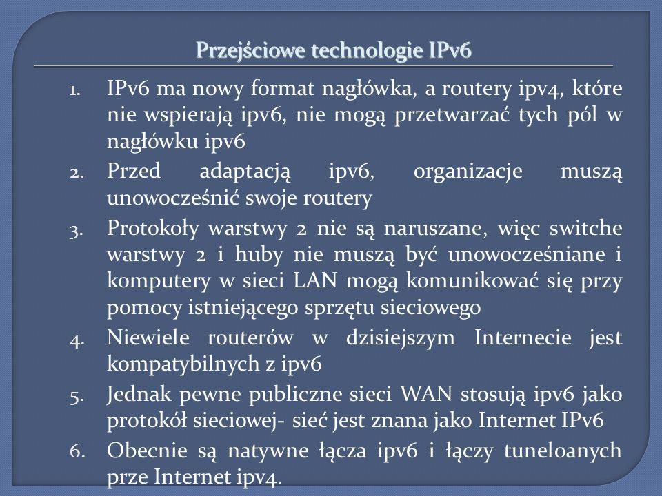 Przejściowe technologie IPv6