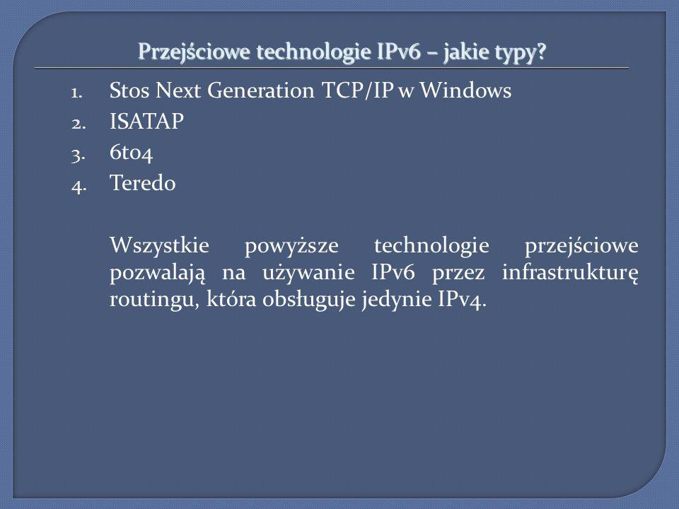Przejściowe technologie IPv6 – jakie typy