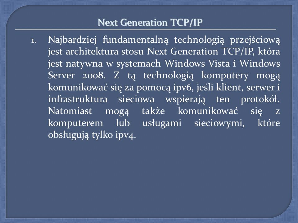 Next Generation TCP/IP