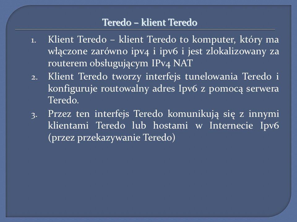 Teredo – klient Teredo