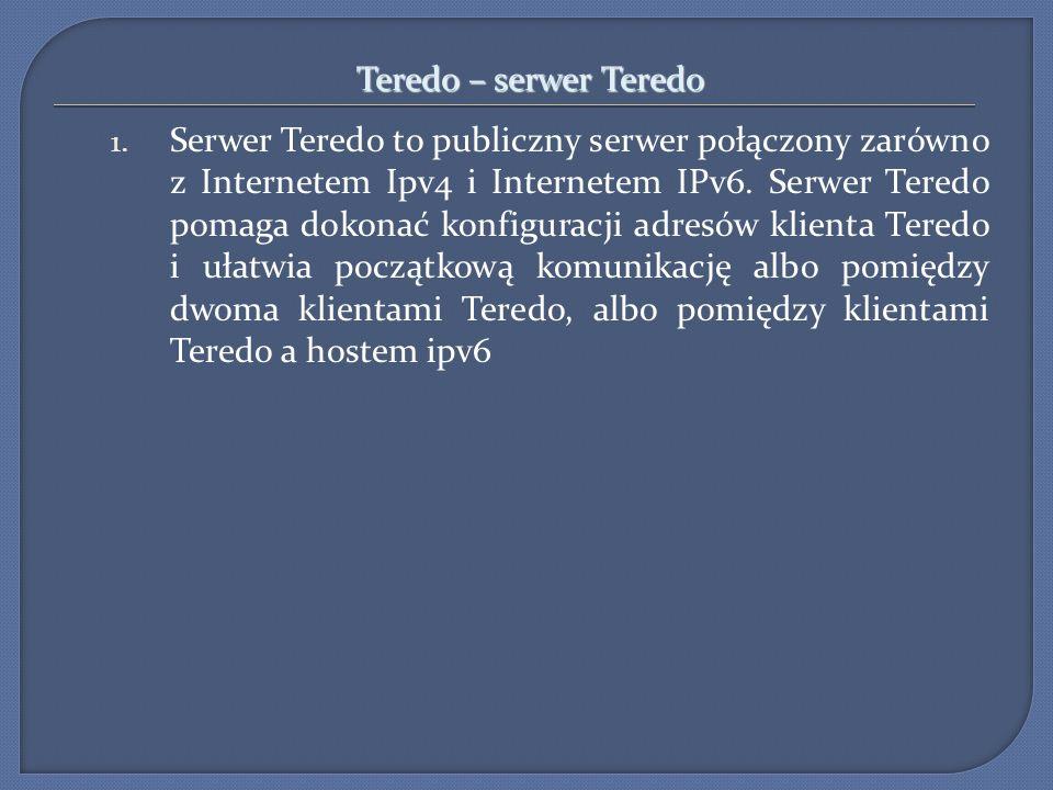 Teredo – serwer Teredo