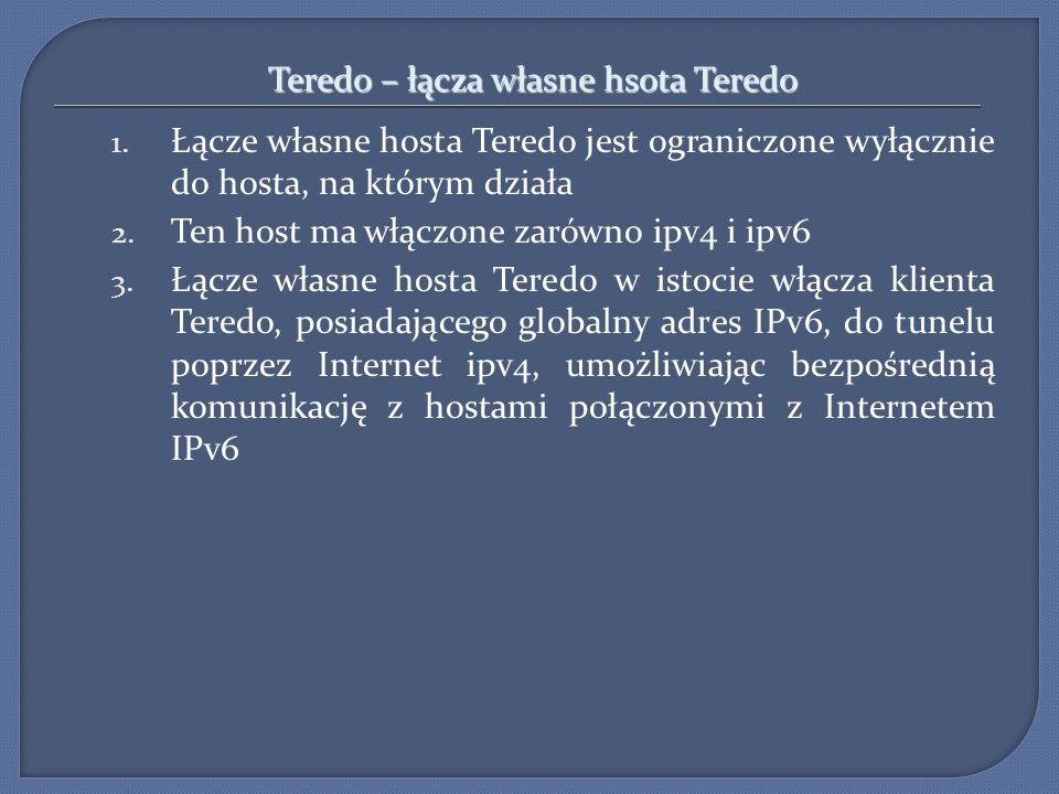 Teredo – łącza własne hsota Teredo