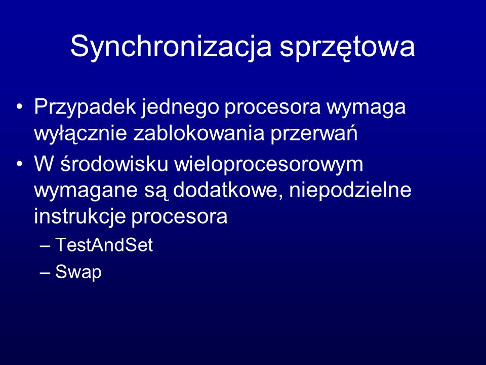 Synchronizacja sprzętowa