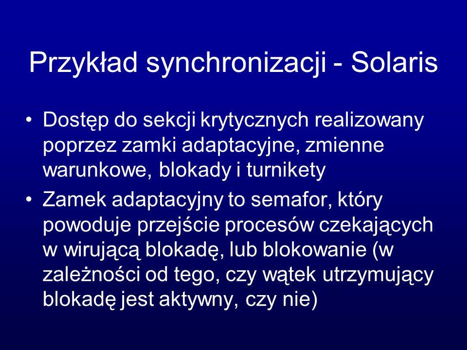 Przykład synchronizacji - Solaris