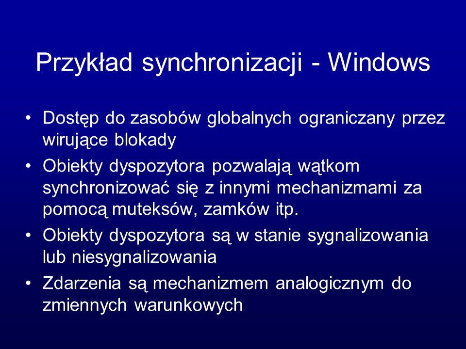 Przykład synchronizacji - Windows