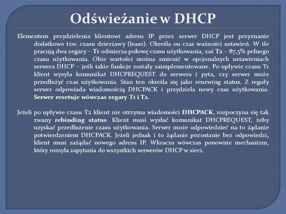 Odświeżanie w DHCP