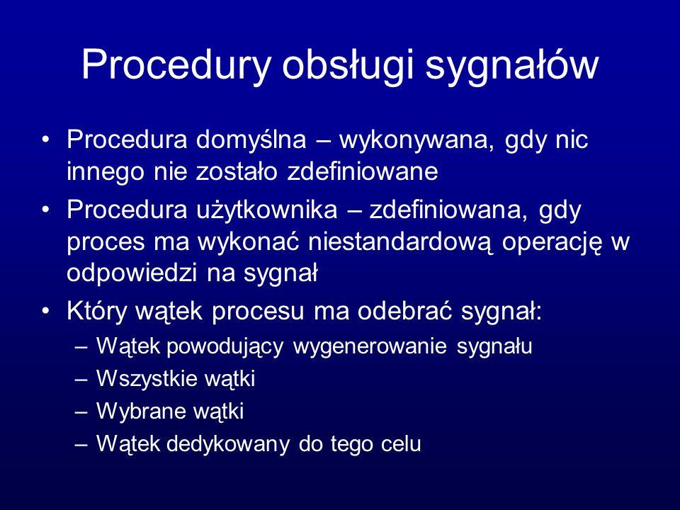 Procedury obsługi sygnałów