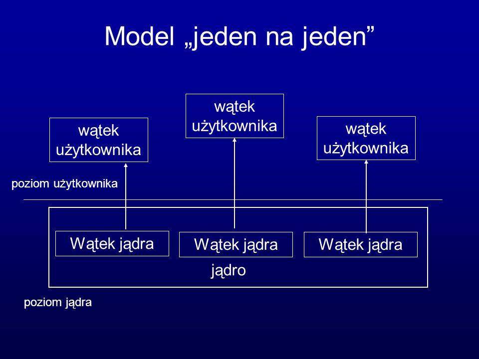 """Model """"jeden na jeden wątek użytkownika wątek użytkownika"""