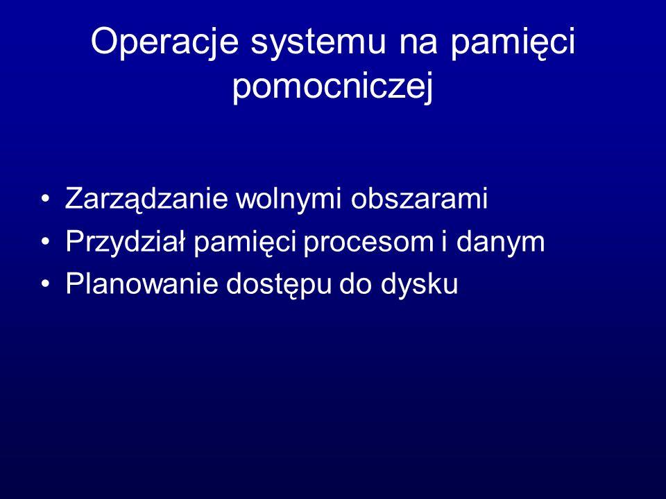 Operacje systemu na pamięci pomocniczej