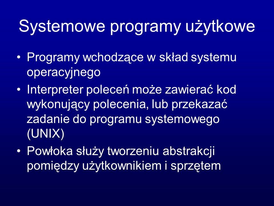 Systemowe programy użytkowe