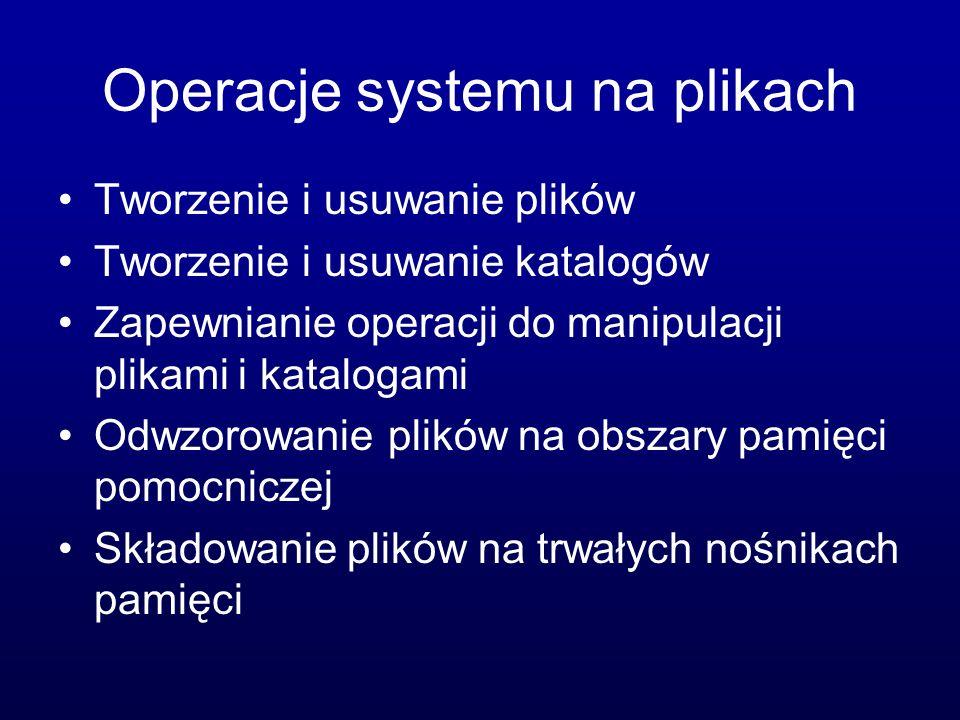 Operacje systemu na plikach