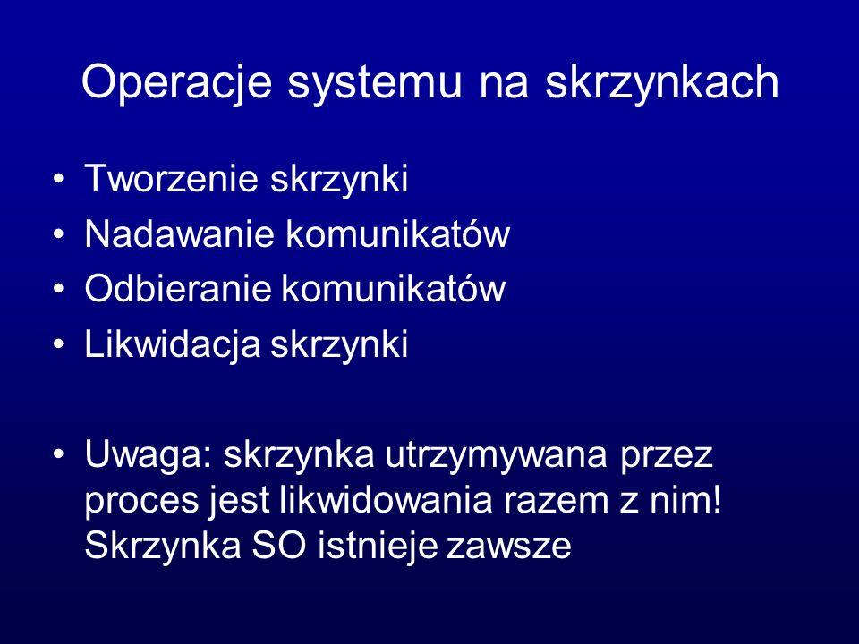 Operacje systemu na skrzynkach