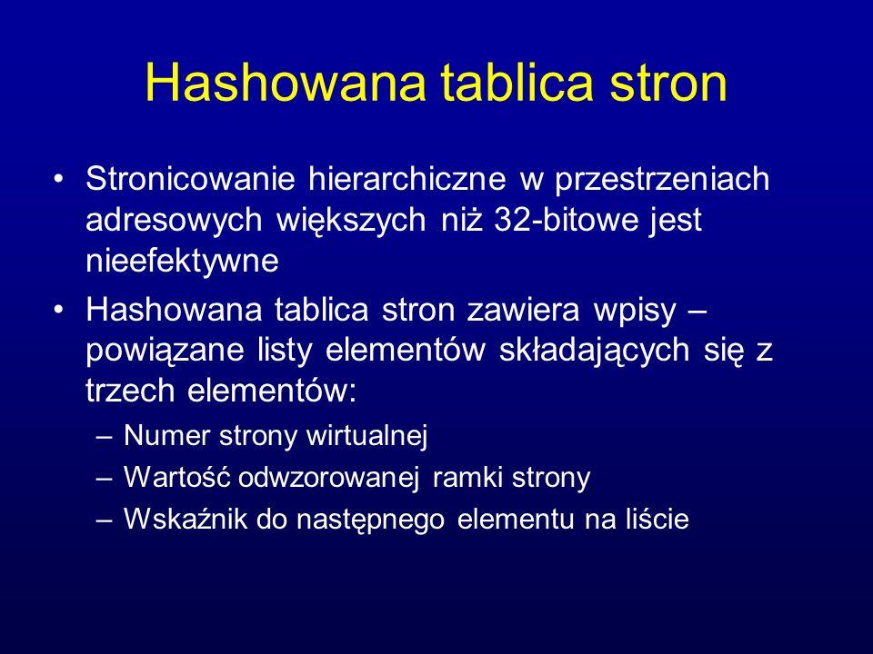 Hashowana tablica stron