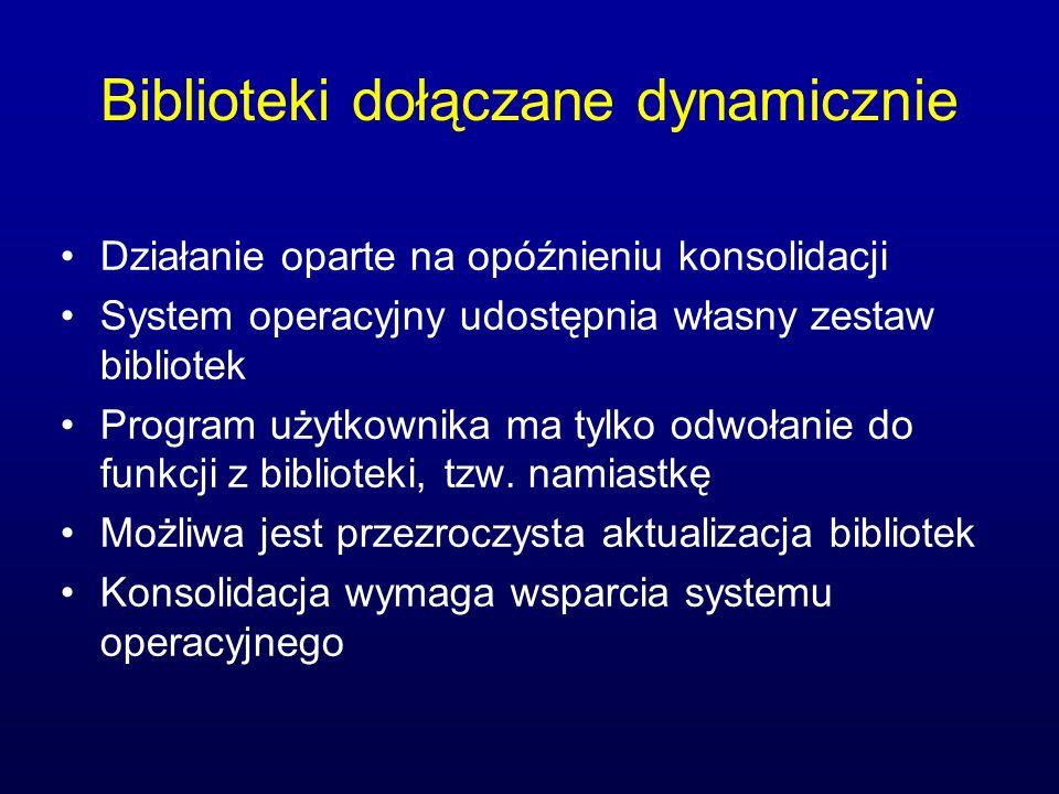 Biblioteki dołączane dynamicznie