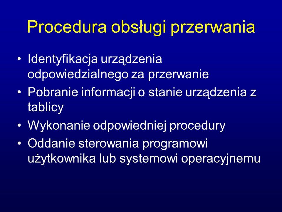 Procedura obsługi przerwania