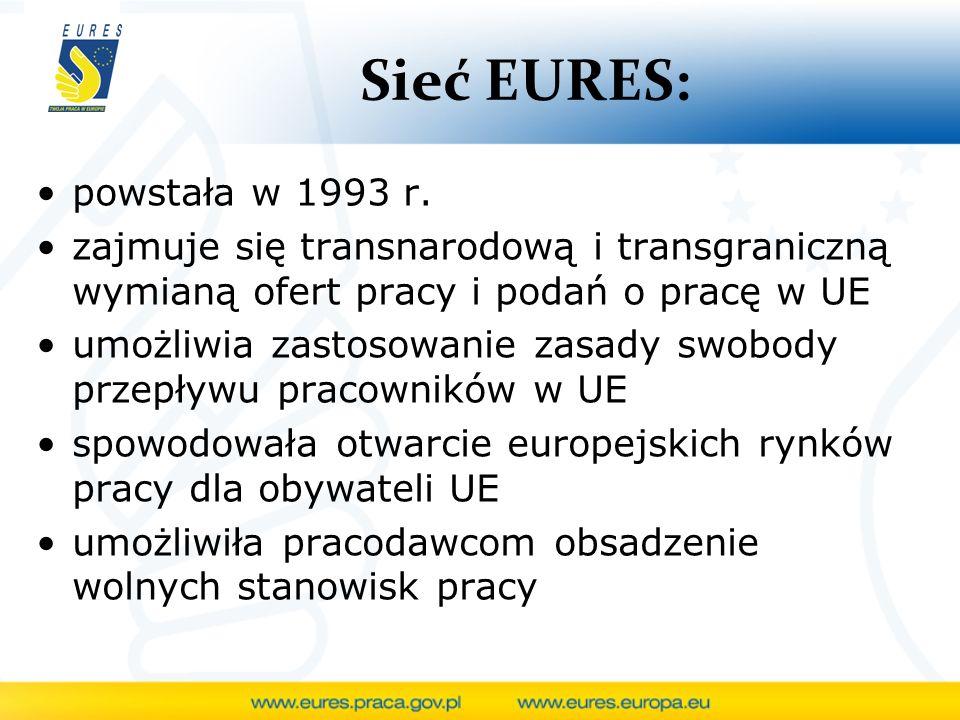 Sieć EURES: powstała w 1993 r.