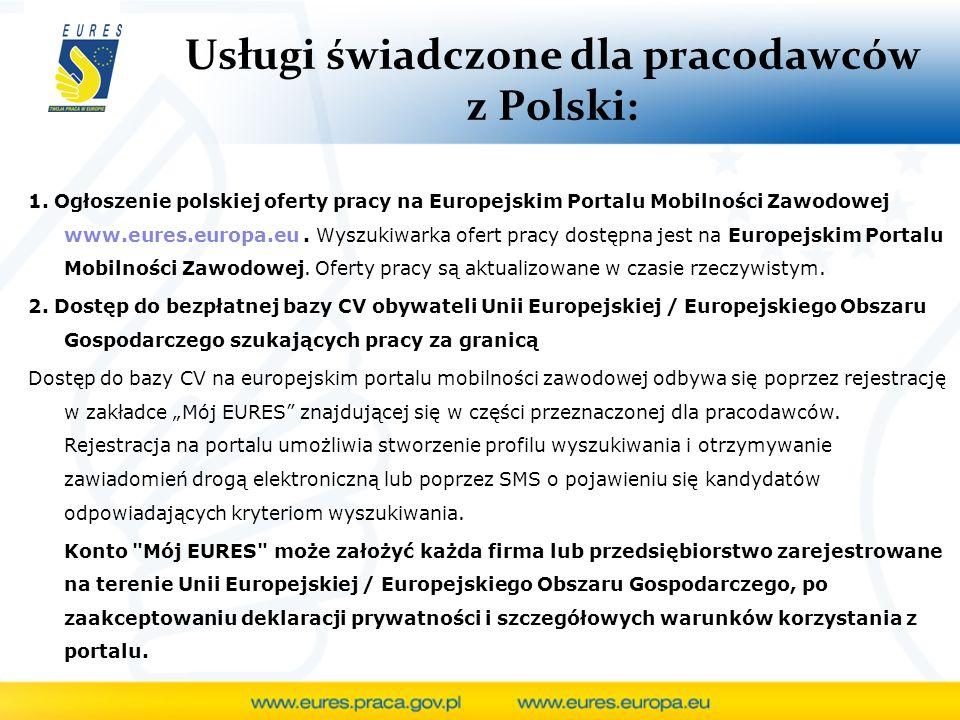 Usługi świadczone dla pracodawców z Polski: