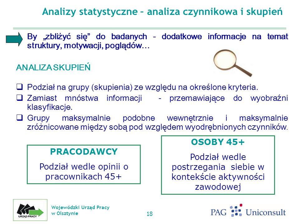 Analizy statystyczne – analiza czynnikowa i skupień