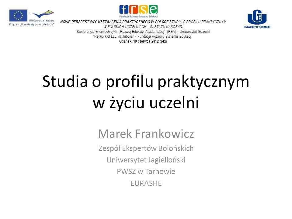 Studia o profilu praktycznym w życiu uczelni