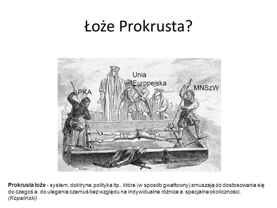 Łoże Prokrusta Unia Europejska MNSzW PKA