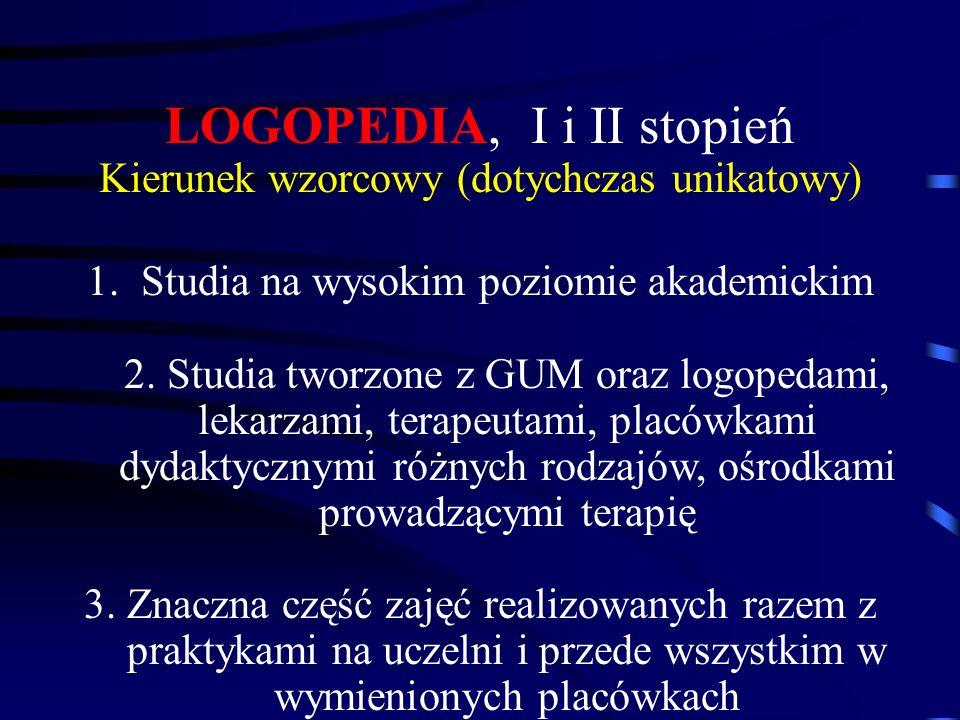 LOGOPEDIA, I i II stopień