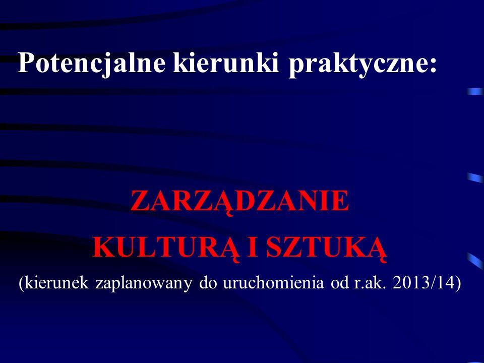 (kierunek zaplanowany do uruchomienia od r.ak. 2013/14)