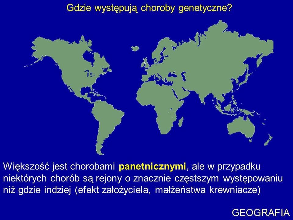 Gdzie występują choroby genetyczne