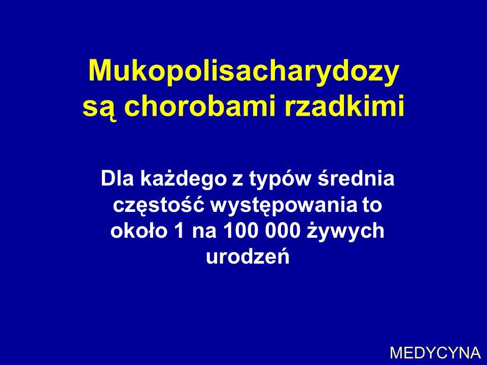 Mukopolisacharydozy są chorobami rzadkimi