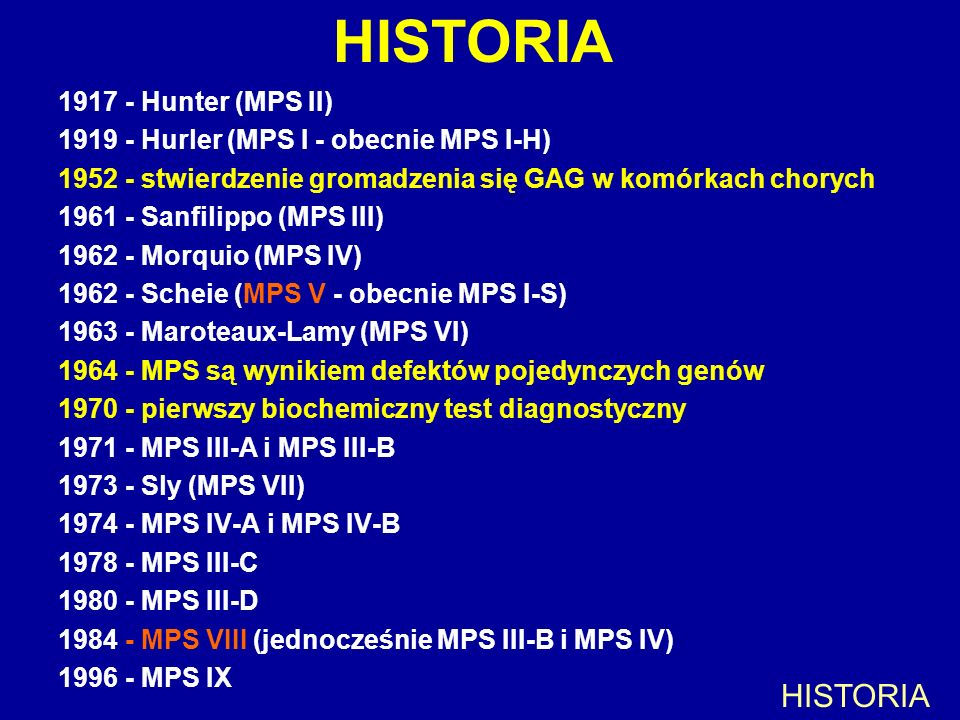 HISTORIA HISTORIA Hunter (MPS II)