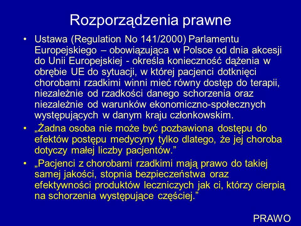 Rozporządzenia prawne