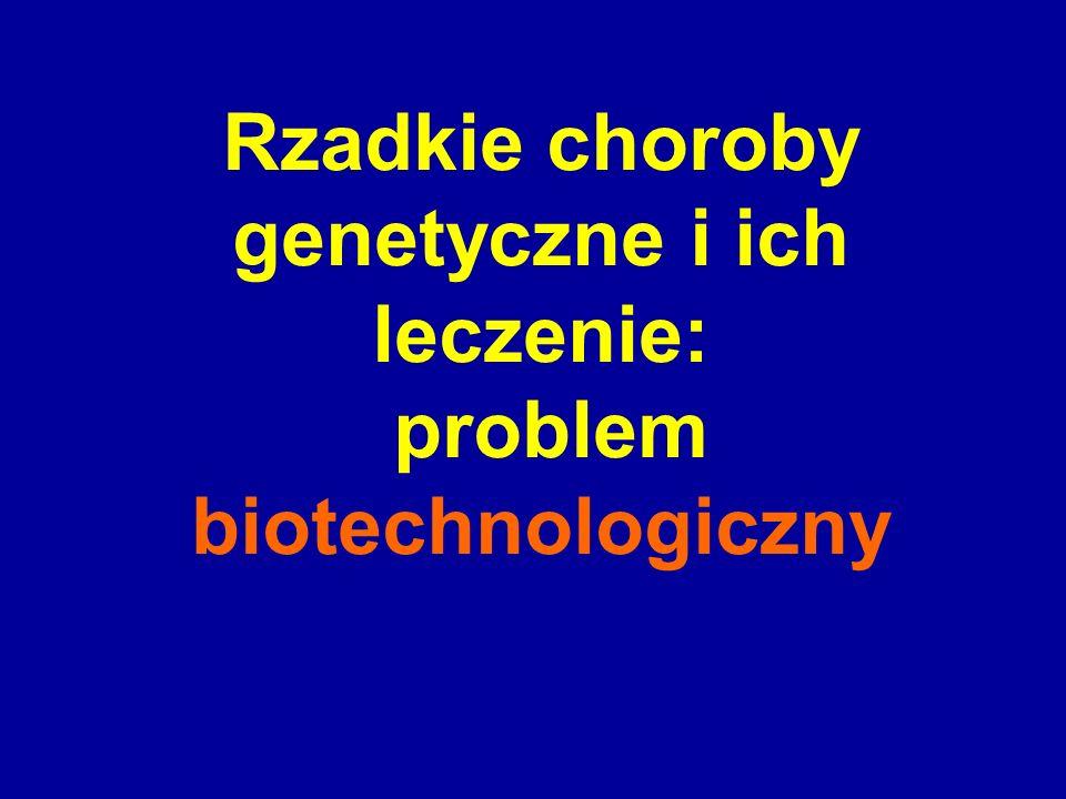 Rzadkie choroby genetyczne i ich leczenie: problem biotechnologiczny