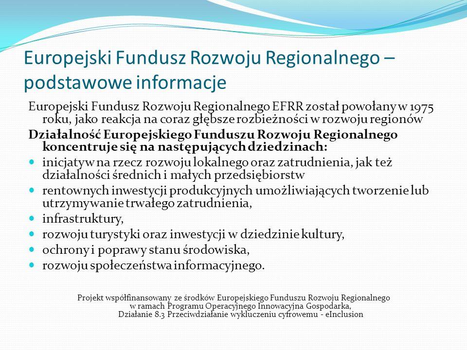 Europejski Fundusz Rozwoju Regionalnego – podstawowe informacje