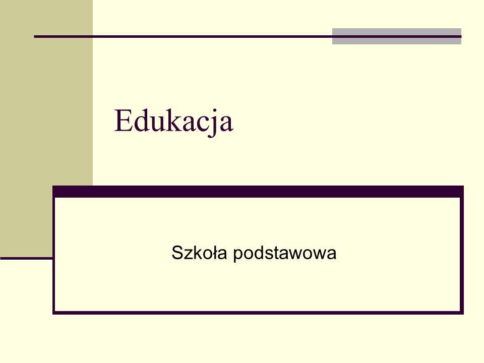 Edukacja Szkoła podstawowa