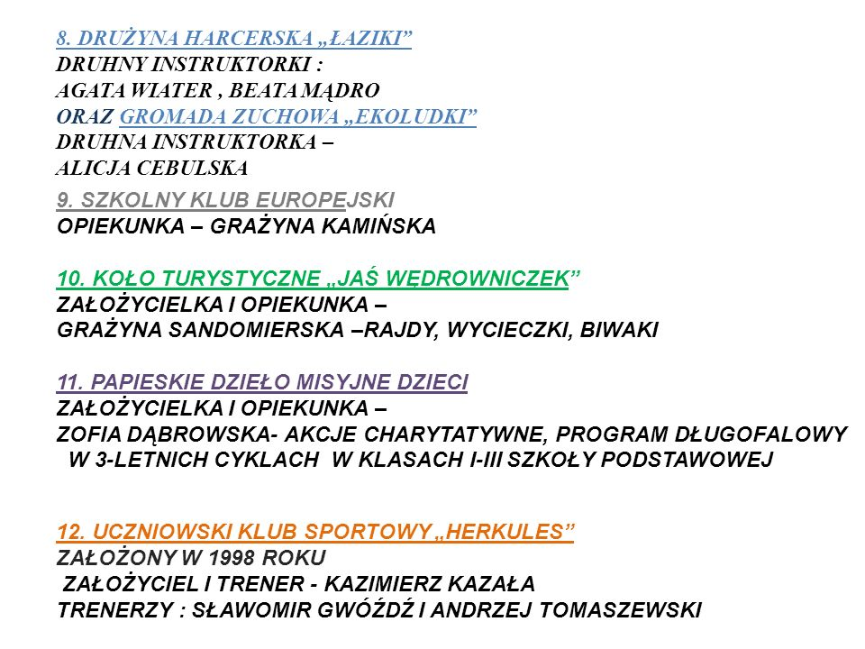 """8. DRUŻYNA HARCERSKA """"ŁAZIKI"""