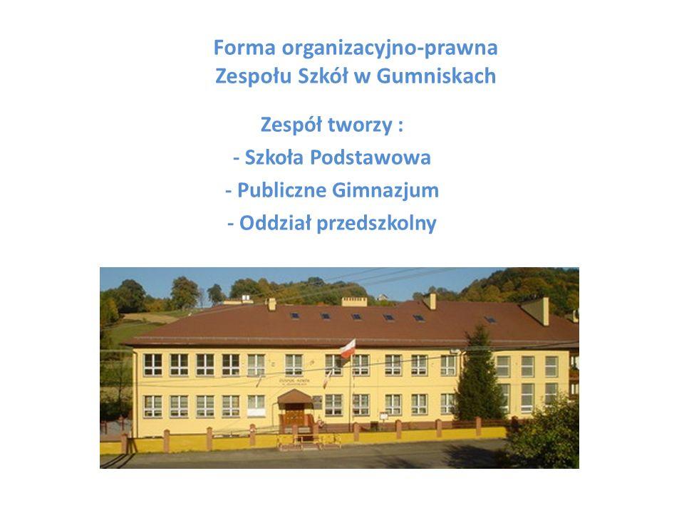 Forma organizacyjno-prawna Zespołu Szkół w Gumniskach