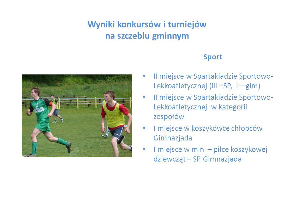 Wyniki konkursów i turniejów na szczeblu gminnym