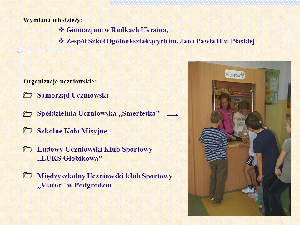 Organizacje uczniowskie: