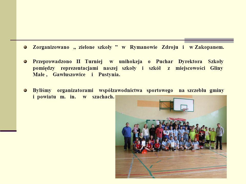 """Zorganizowano """" zielone szkoły w Rymanowie Zdroju i w Zakopanem."""