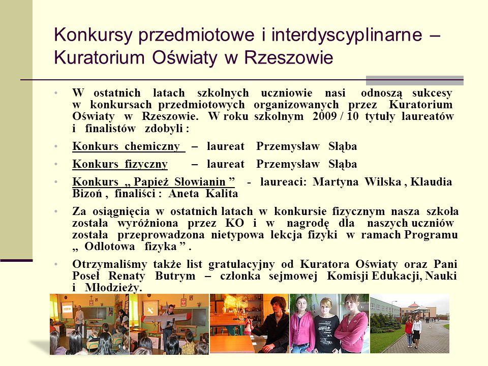 Konkursy przedmiotowe i interdyscyplinarne – Kuratorium Oświaty w Rzeszowie