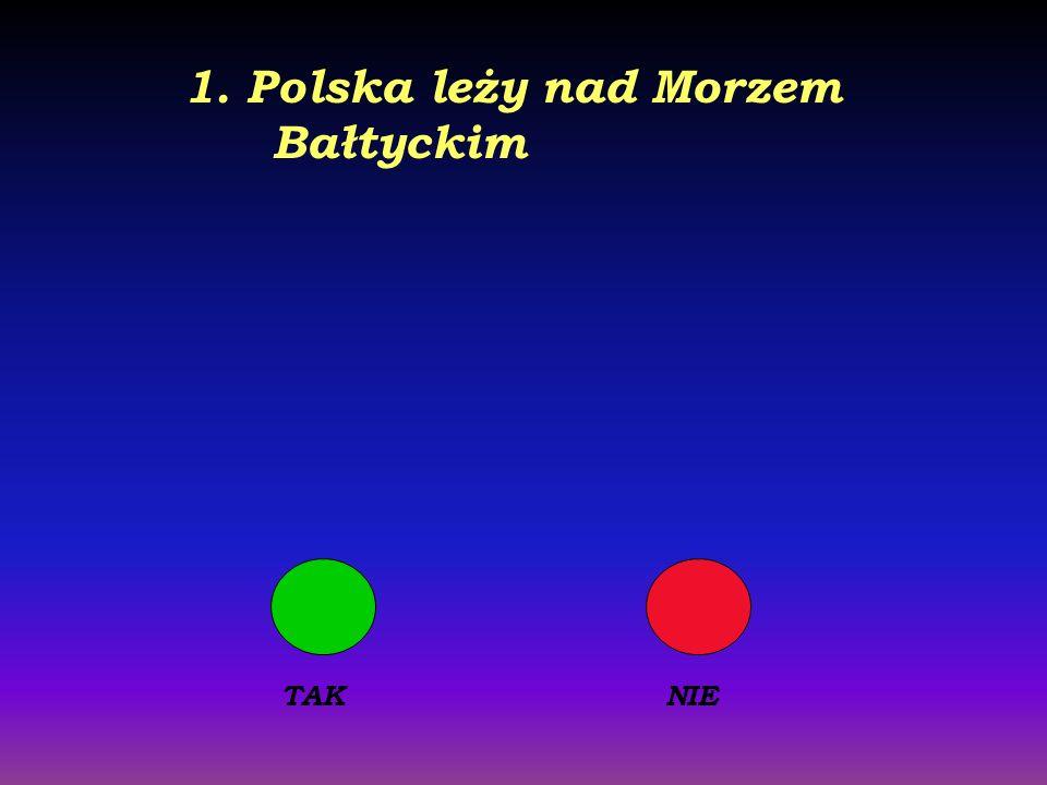 1. Polska leży nad Morzem Bałtyckim