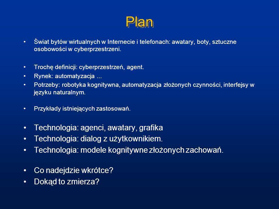Plan Technologia: agenci, awatary, grafika